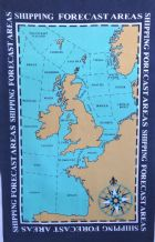 UK Shipping Forecast Areas Galley Cloth  / Tea Towel
